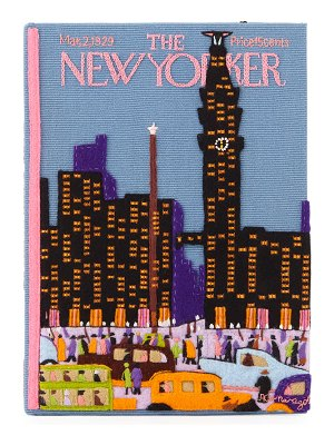 Olympia Le-Tan New Yorker Skyline Book Clutch Bag