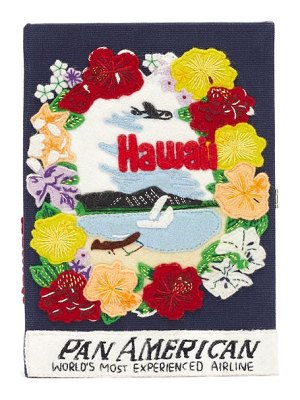 Olympia Le-Tan pan-american airways embroidered book clutch