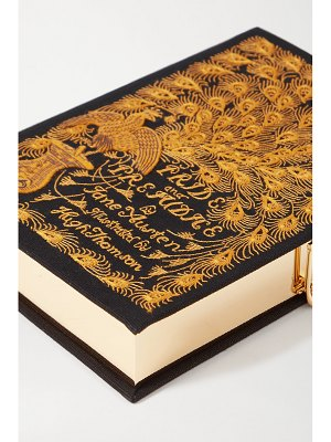 Olympia Le-Tan pride and prejudice embroidered appliquéd canvas clutch