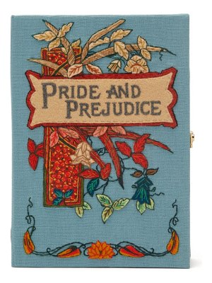 Olympia Le-Tan pride and prejudice embroidered book clutch