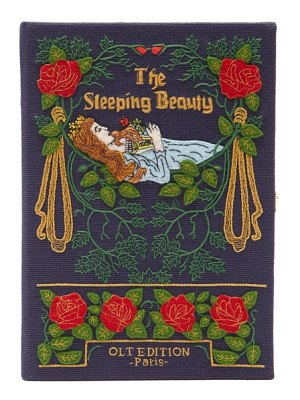 Olympia Le-Tan sleeping beauty embroidered book clutch