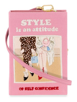 Olympia Le-Tan Style Is An Attitude Book Clutch Bag