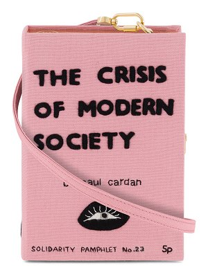 Olympia Le-Tan The Crisis Of Modern Society Book Clutch Bag
