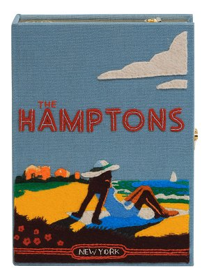 Olympia Le-Tan The Hamptons Strapped Book Clutch Bag
