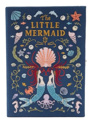 Olympia Le-Tan the little mermaid embroidered book clutch