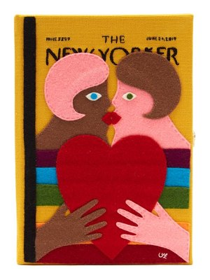 Olympia Le-Tan the new yorker 'heartfelt' embroidered book clutch