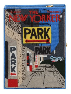 Olympia Le-Tan The New Yorker Park Strapped Book Clutch Bag