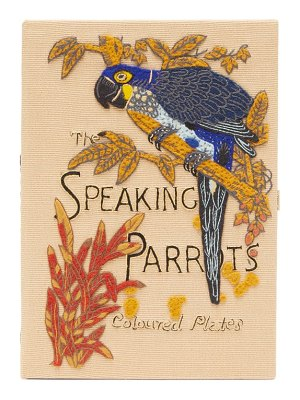 Olympia Le-Tan the speaking parrots-embroidered canvas clutch