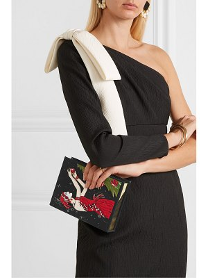Olympia Le-Tan tree appliquéd embroidered canvas clutch