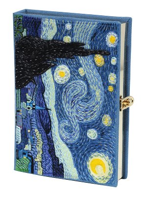 Olympia Le-Tan Van Gogh Starry Night Book Clutch Bag