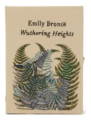 Olympia Le-Tan wuthering heights embroidered book clutch