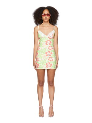 OMIGHTY ssense exclusive  hibiscus cami tank dress
