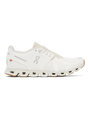On off-white cloud sneakers