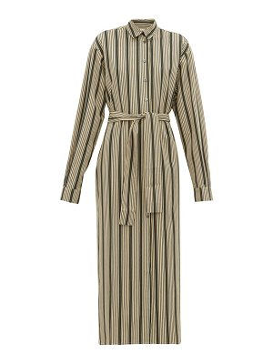 On The Island By Marios Schwab kambos striped-twill shirtdress
