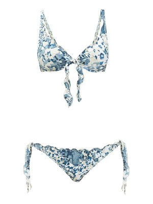 On The Island By Marios Schwab los roques floral-print underwired bikini