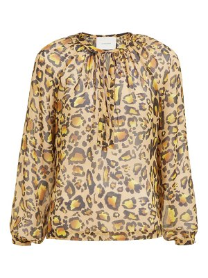 On The Island By Marios Schwab floreana leopard-print cotton-voile shirtdress