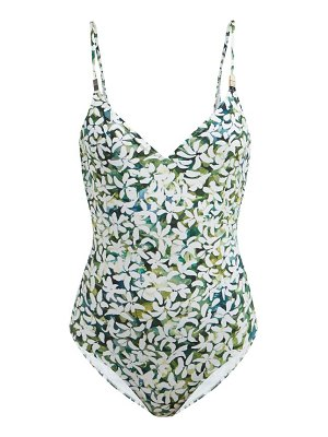 On The Island By Marios Schwab asteria floral print scoop back swimsuit