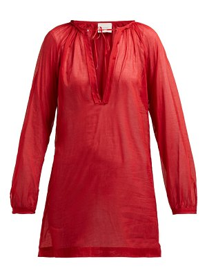 On The Island By Marios Schwab floreana v-neck cotton tunic