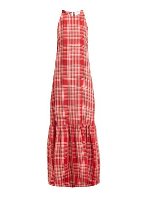 ON THE ISLAND ogygia checked maxi dress
