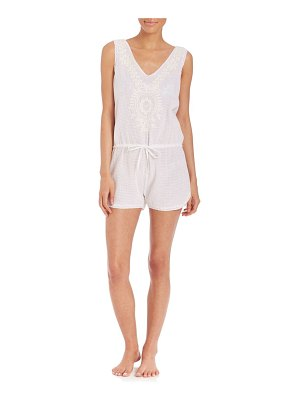 Onda De Mar Swim Embroidered Cotton Romper