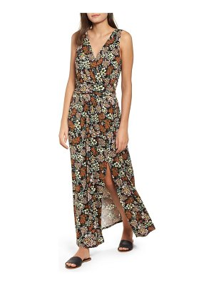 One Clothing floral surplice maxi dress