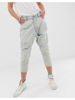 One Teaspoon kingpins cropped jean with rips