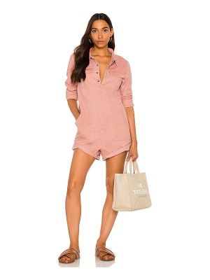 One Teaspoon washed pink prophecy jumpsuit