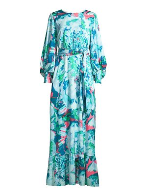 ONE33 SOCIAL floral printed maxi dress
