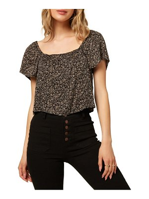 O'Neill galien floral print woven crop top