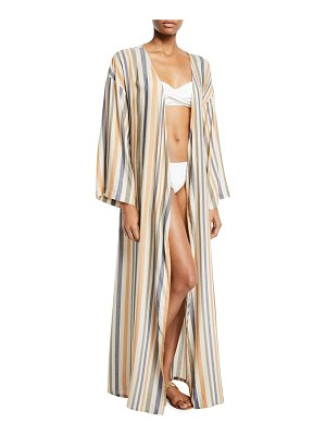 onia Meika Striped Coverup Robe