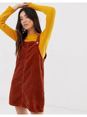 Only cord pinny dress with pocket detail
