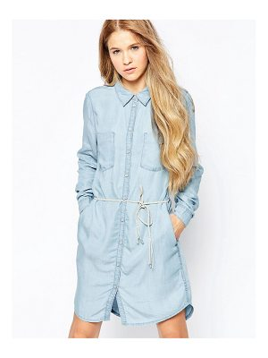 Only denim dress with belt detail