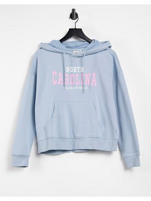Only hoodie co-ord with college logo in blue-grey