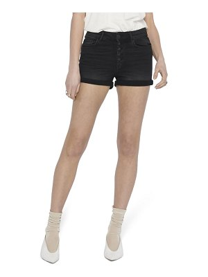 Only hush button fly denim shorts