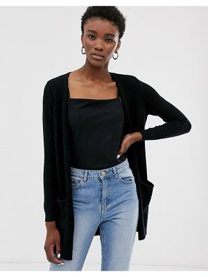 Only longline knitted cardigan-black