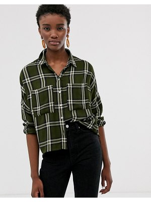 Only oversized check shirt