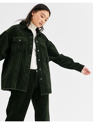 Only oversized cord shirt