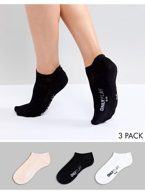 Only Play 3 Pack Gym Ankle Socks