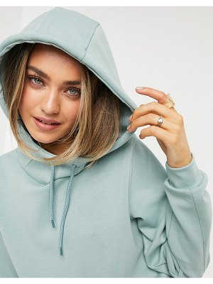 Only Play cropped hoodie in gray-grey