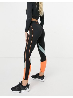 Only Play high waist leggings with color block-black