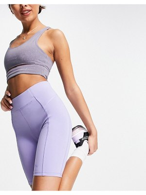 Only Play high waisted legging shorts in lilac-purple