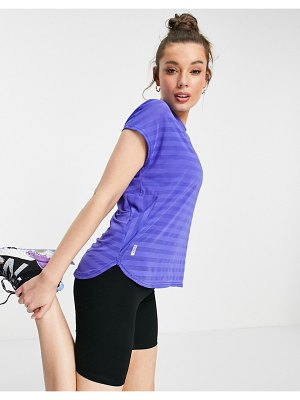 Only Play loose t-shirt with stripe in purple