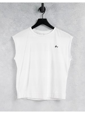 Only Play t-shirt with cap sleeves in white