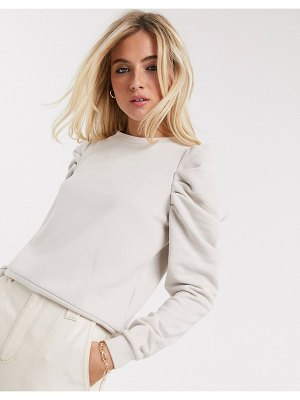 Only puff sleeve sweatshirt in cream