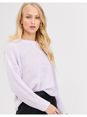 Only rib knitted sweater