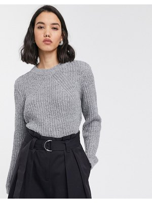 Only ribbed sweater in gray