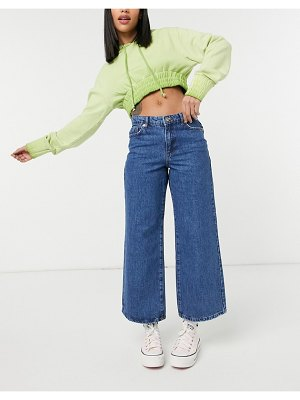 Only sonny cropped wide leg jeans in medium blue-blues