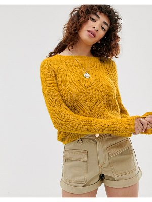 Only stitch detail knitted sweater