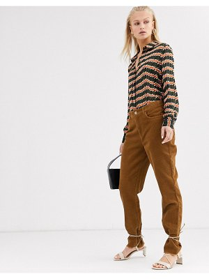 Only straight leg cord pants-brown