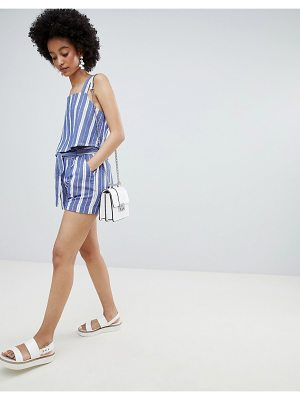 Only Stripe Paperbag Waist Short Two-Piece